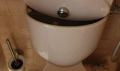 Réparation d' une fuite de WC  à Montpellier Euromédecine